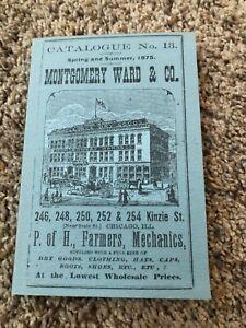 Montgomery Ward & Co. Spring & Summer 1875 Pocket Catalogue No. 13 Advertising