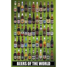 "BEERS OF THE WORLD - 91 x 61 MM 36 x 24"" ART POSTER"