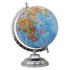 "Big Rotating Desktop Blue Ocean Globe World Geography Earth Table Decor 12"""