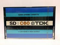 TDK SD C60 BLANK AUDIO CASSETTE TAPE NEW RARE 1973 YEAR USA MADE