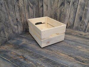 Rustic Reclaimed Wooden Crates Box Storage Shelf Fruit Vegetable Wine Retail