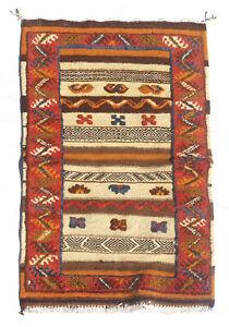 "moroccan berber Kilim Glawi Small Area Rug Size 24 x 39"""