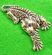 5Pcs. Tibetan Silver Large Tiger Charms Pendants Earring Drops Findings An169