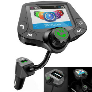 Large Screen Car Hands-Free Fm Transmitter Multi-Function Bluetooth Mp3