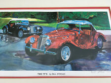 """MG: TWO TF'S by Bill Stroud Serigraph signed """"117/750"""" mat acrylic cover"""