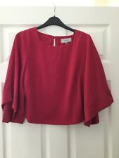 Coast Ladies Raspberry Crop Top Size 14 New With Tags