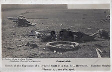 """Remains of 6"""" Howitzer after shell explodes in breech Staddon Heights Plymouth"""