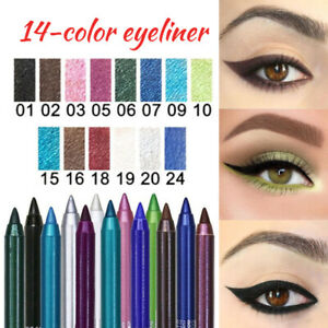 Long Lasting Glitter Eyeshadow EyeLiner Eye Shadow Pencil Shimmer Pen Makeup Set