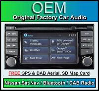 Nissan Micra Sat Nav car stereo, DAB+ radio, LCN2 Connect CD player Bluetooth
