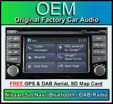 NISSAN Note Navigatore satellitare auto stereo, DAB + Radio, LCN2 connetti LETTORE CD BLUETOOTH