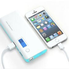 US 20000mAh 2USB External Power Bank Portable LCD LED Charger for Mobile Phone