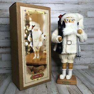Christmas Grandeur Noel  SKIING SANTA NUTCRACKER  Limited Edition 2000 Holiday
