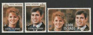 Cook Islands 1986 Royal Wedding set SG 1075-1077 Mnh.