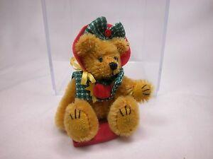 """World of Miniature Bears By Theresa Yang 3"""" Mohair Bear Fall  #786 CLOSING"""