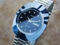 Beautiful Rado Diastar Men's Tungsten Swiss Made Precision Quartz Watch 90s PB12