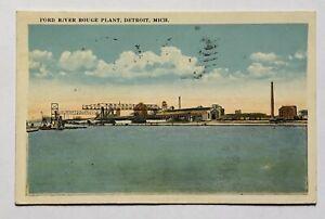 1921 Ford River Rouge Plant Detroit Michigan Franked Color Postcard