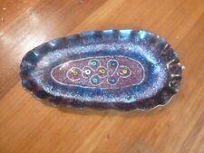 Vintage Mid Century Modern Jim Millar Dublin enamel on copper small dish trinket