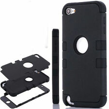 iPod Touch 5th Gen -HARD & SOFT RUBBER HIGH IMPACT ARMOR CASE HYBRID COVER