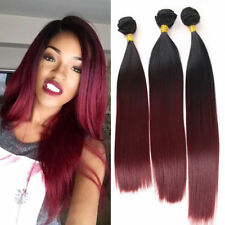 """3Bundle Omber Bug Straight Hair Extensions Synthetic Weave Weft Hair 16"""" 18"""" 20"""""""