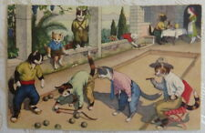 Vintage Postcard , Alfred Manzier, Cats, Anthropomorphic