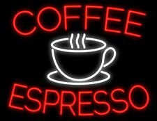 "New Coffee Espresso Cafe Open Man Cave Neon Light Sign 32""x24"""