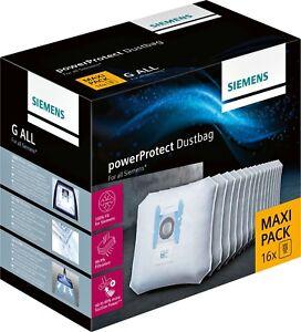 Siemens Type PowerProtect Maxi Pack Staubsaugerbeutel 16 Beutel VZ16GALL