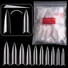 600Pc Extra Long Stiletto Nail Tips Half Cover False Fake Acrylic Nail Art