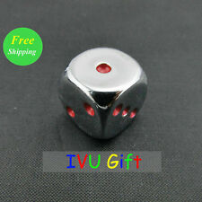 16MM 100PCS Plating Silver with RED Point 1-6 number Dice party game OEM IVU