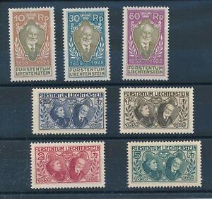 [343677] Liechtenstein 1928 good lot very fine NO GUM stamps