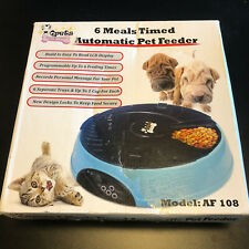 Q Pets AUTOMATIC FEEDER 6 Meals, Record Your Voice, Portable, Programmable