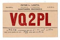 Northern Rhodesia 1947 Radio Card Postally Used To California X5693