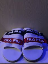 Fila Utility Slide White/Fila Navy/Fila Red Size 10 Mens (1SM00091 125)