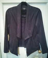 Oasis suedette relaxed tuxedo jacket small BNWOT
