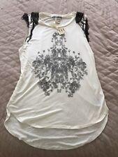 NWT haute hippie rose chandelier Tank Top Sz Medium 375$