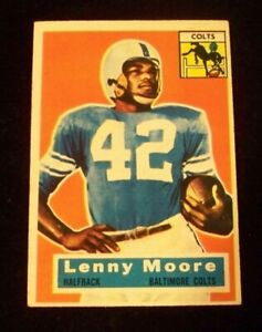 1956 Topps Football Baltimore Colts Lenny Moore Rookie Card RC #60