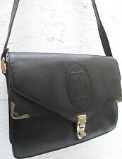 -AUTHENTIQUE sac à main  CARTIER  cuir   (T)BEG bag vintage 60's