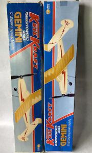 "Keil Kraft Gemini 22"" Span Balsa Rubber Band Powered Model Plane Kits Vintage"