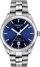 Tissot PR 100 Automatic Blue Dial Men's Steel Date Watch T1014071104100