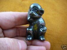 (Y-Mon-700) Monkey Ape Black hematite Gem stone figurine gemstone carving Chimp