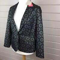 Monsoon BNWT Women's Evening/Party  Jacket UK 16 Black/Gold/Blue Glittery Xmas