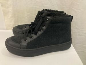 Skechers ALBA COZY LANE Trainers Shoes 73599 Black High Top Size 7 (.002)