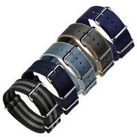 ZULUDIVER® Iridescent Linen Weave NATO Band Watch Strap 20mm & 22mm