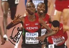 Athletics: Asbel Kiprop Signed 6x4 Action Photo+Coa *Rio 2016* *Kenya*
