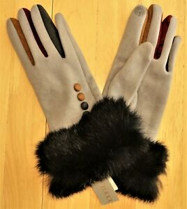 """Ladies """"Vera Tucci"""" Touch Screen Gloves S/M - Grey"""