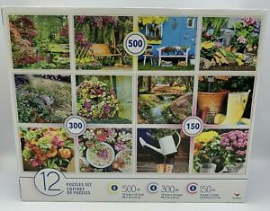 NEW Cardinal Variety 12-PACK Jigsaw Puzzle Set 150, 300 & 500 Pieces Outdoor