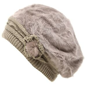New Style Women's Cable Knit winter thick Warm Flower Design Hat winter outwear