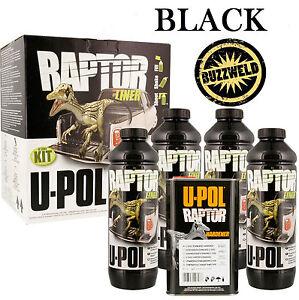 UPOL Raptor Super Tough Urethane Truck Bed Liner Spray On Black Coating Paint 4L