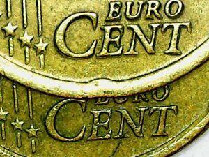 **Error** Euro 20 cent coin 2002 Greece European Union Error Cent Doubled