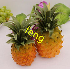 2pc artificial pineapple faux fruit home kitchen wedding decor Photography Props