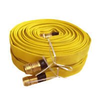 Pack of 2 FIRE HOSE, 3/4IN.X 50 FT., YELLOW, 250 PSI